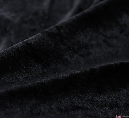 WeaverDee - Crushed Velvet Fabric - Black - WeaverDee.com Sewing & Crafts - 1