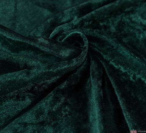 WeaverDee - Crushed Velvet Fabric - Bottle Green - WeaverDee.com Sewing & Crafts - 1