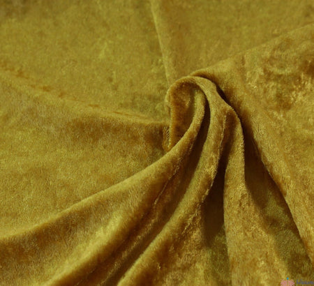WeaverDee - Crushed Velvet Fabric - Gold - WeaverDee.com Sewing & Crafts - 1