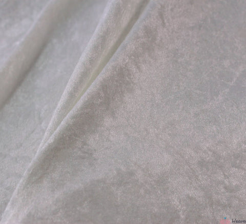 WeaverDee - Crushed Velvet Fabric - Ivory / Cream - WeaverDee.com Sewing & Crafts - 1