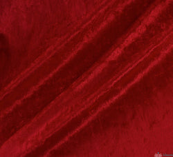 WeaverDee - Crushed Velvet Fabric - Red - WeaverDee.com Sewing & Crafts - 1
