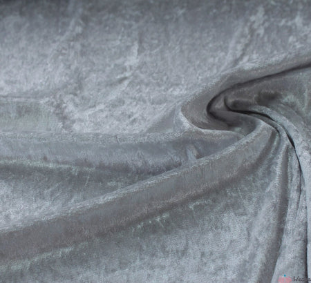 WeaverDee - Crushed Velvet Fabric - Silver - WeaverDee.com Sewing & Crafts - 1