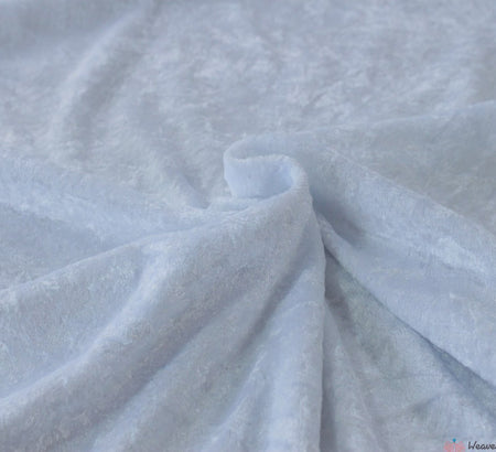 WeaverDee - Crushed Velvet Fabric - White - WeaverDee.com Sewing & Crafts - 1