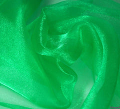WeaverDee - Crystal Organza Fabric / Emerald Green - WeaverDee.com Sewing & Crafts - 1
