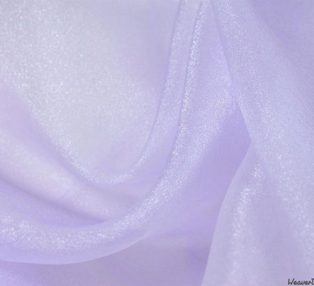 WeaverDee - Crystal Organza Fabric / Lilac - WeaverDee.com Sewing & Crafts - 1