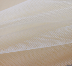 WeaverDee - Dress Net Fabric / 150cm Ivory - WeaverDee.com Sewing & Crafts - 1