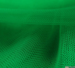 Dress Net Fabric / 150cm Fluorescent Baize Green