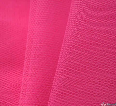 WeaverDee - Dress Net Fabric / 150cm Fluorescent Rose - WeaverDee.com Sewing & Crafts