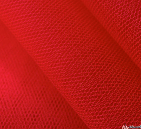 WeaverDee - Dress Net Fabric / 150cm Fluorescent Red - WeaverDee.com Sewing & Crafts - 1