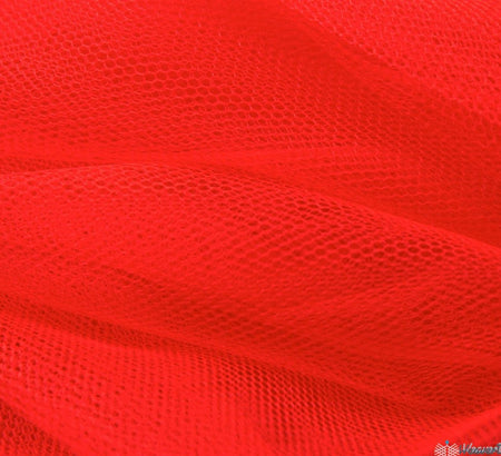 WeaverDee - Dress Net Fabric / 150cm Fluorescent Tangerine - WeaverDee.com Sewing & Crafts - 1