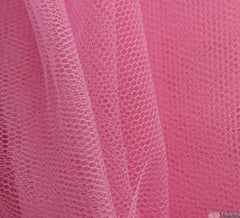 WeaverDee - Dress Net Fabric / 150cm Sealing Wax Pink - WeaverDee.com Sewing & Crafts - 1