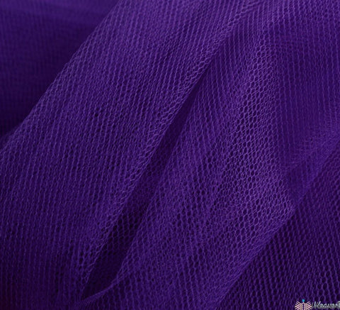 WeaverDee - Dress Net Fabric / 150cm Violet - WeaverDee.com Sewing & Crafts - 1