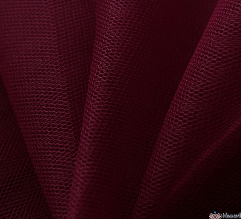 WeaverDee - Dress Net Fabric / 150cm Wine - WeaverDee.com Sewing & Crafts - 1