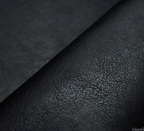 WeaverDee - Leather Look Fabric / Black - WeaverDee.com Sewing & Crafts - 1