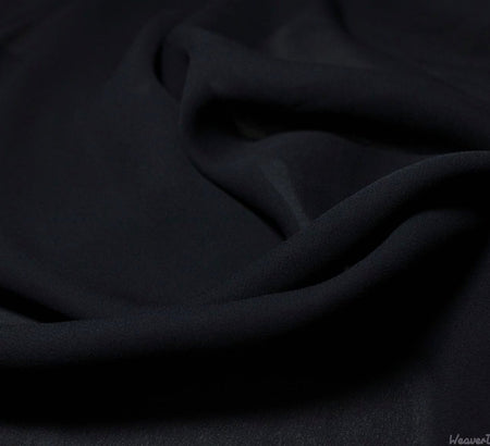 WeaverDee - Georgette Fabric / Black - WeaverDee.com Sewing & Crafts - 1
