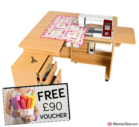 Horn Quilter's Delight Mk2 Sewing Machine Cabinet + FREE £90 VOUCHER