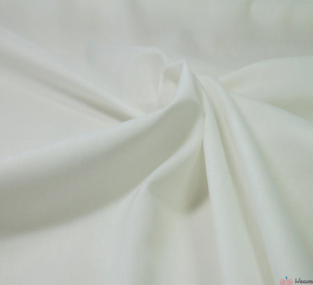 WeaverDee - Poly Cotton Fabric / Ivory - WeaverDee.com Sewing & Crafts - 1