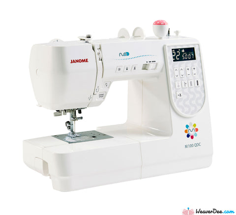 Janome M100QDC Sewing Machine with Bonus Sew-Table & Extra Presser Feet Set
