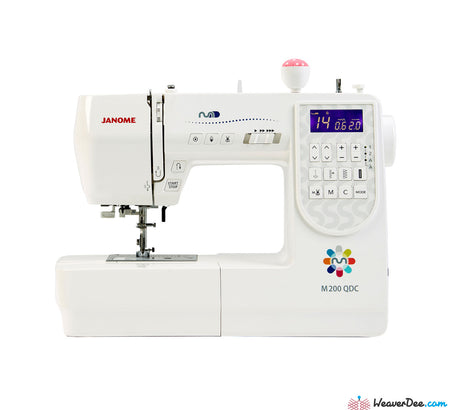 Janome M200QDC Sewing Machine with Bonus Sew-Table & Extra Presser Feet Set