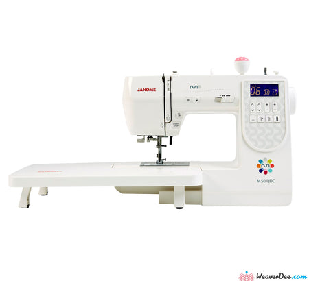 Janome M50QDC Sewing Machine with Bonus Sew-Table & Extra Presser Feet Set