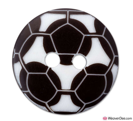 PRYM Football Buttons - Black & White