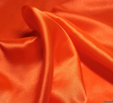 WeaverDee - Liquid Satin Fabric / Orange - WeaverDee.com Sewing & Crafts - 1
