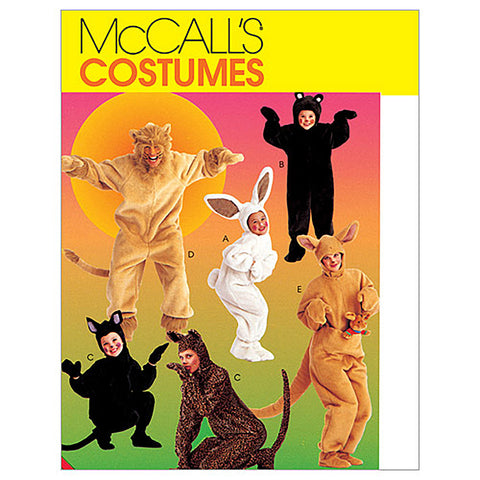 McCall's - M6106 Adults'/Kids' Animal Costumes - WeaverDee.com Sewing & Crafts - 1