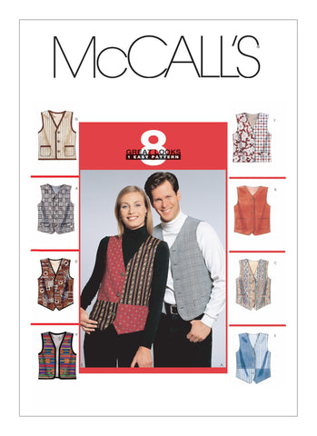 McCall's Pattern M6228 Misses'/Men's Lined Waistcoats