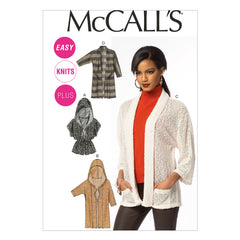 McCall's - M6802 Misses'/Women's Cardigans - WeaverDee.com Sewing & Crafts - 1