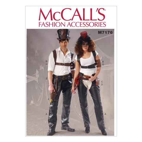 McCall's - M7176 Misses'/Mens' Steampunk / Wild West Accessories - WeaverDee.com Sewing & Crafts - 1
