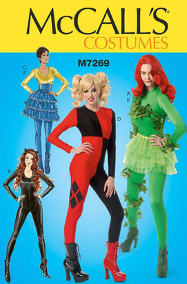 McCall's - M7269 Villainess / Super-Heroine Bodysuits & Ruffled Skirts - WeaverDee.com Sewing & Crafts - 1