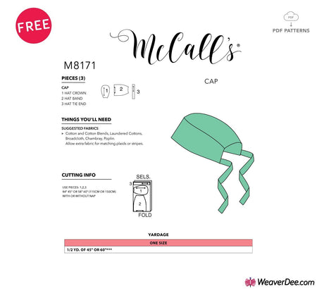 FREE PDF DOWNLOAD: McCall's Pattern M8171