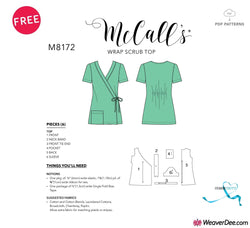 FREE PDF DOWNLOAD: McCall's Pattern M8172 Wrap Scrub Top