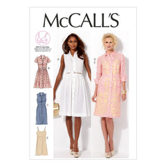 McCall's - M6696 Misses' Shirt Dress & Slip Dress - WeaverDee.com Sewing & Crafts - 1