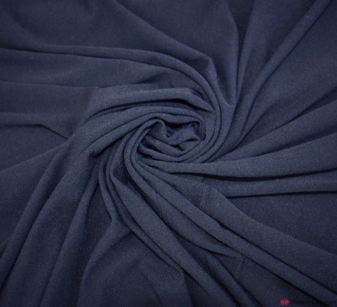 Navy Crêpe Jersey Fabric