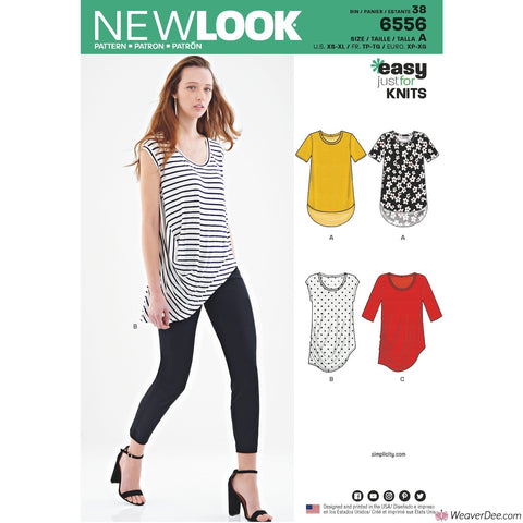 New Look Pattern NL6556 Misses' Easy Knit Tops