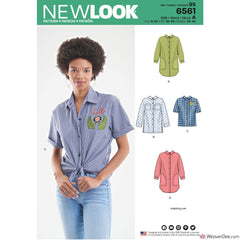 New Look Pattern NL6561 Misses' Shirts in 3 Lengths
