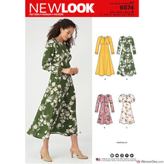 New Look Pattern NL6574 Misses' Dress