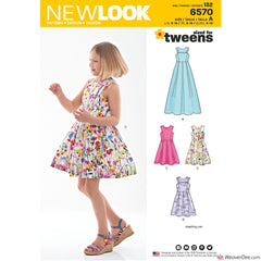 New Look Pattern NL6570 Girl's Dress in 2 Lengths