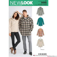 New Look Pattern NL6588 Unisex Tops