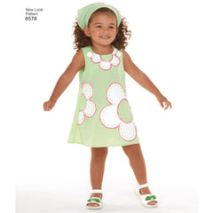 New Look - NL6578 Toddler Dress | Easy - WeaverDee.com Sewing & Crafts - 1