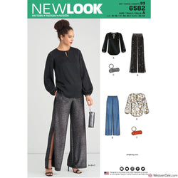 New Look Pattern N6582 Misses' Pants, Top & Clutch