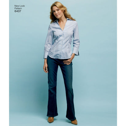 New Look - NL6407 Misses Shirt | Easy - WeaverDee.com Sewing & Crafts - 1