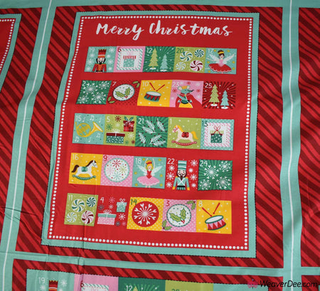 Cotton Craft Company Christmas Fabric - Nutcracker Advent Panels