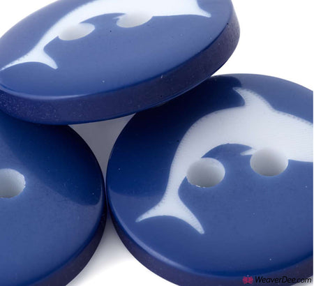 PRYM Dolphin Buttons - Blue