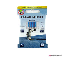 ORGAN Denim / Jeans Machine Needles [Pack of 5] Sizes 90/14 or 100/16