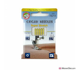 ORGAN Super Stretch Machine Needles [Pack of 5] Size 75/11