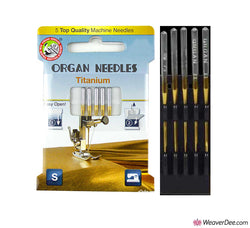 ORGAN Titanium Machine Needles Sewing or Embroidery [Pack of 5]