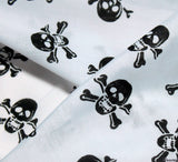 WeaverDee - Poly Cotton Fabric - Skulls Black on White - WeaverDee.com Sewing & Crafts - 7