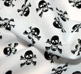 WeaverDee - Poly Cotton Fabric - Skulls Black on White - WeaverDee.com Sewing & Crafts - 4